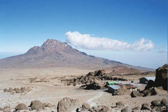 Mawenzi from above Kibo hut